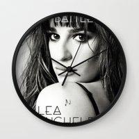 battlefield Wall Clocks featuring Lea Michele-Battlefield-Photo by Jessie Bouyea