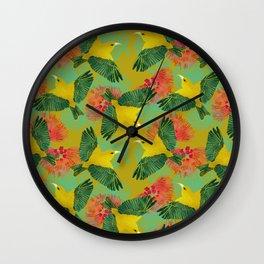Ohia Lehua Wall Clock