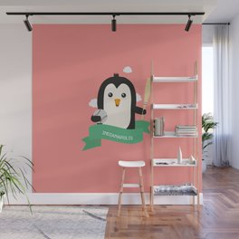 Baseball Penguin from INDIANAPOLIS T-Shirt Wall Mural