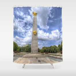 Russian World War 2 Memorial Budapest Shower Curtain