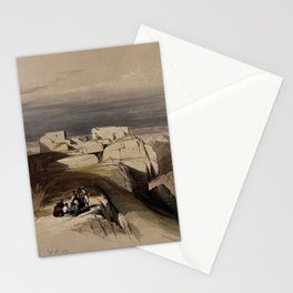 Vintage Print - The Holy Land, Vol 3 (1843) - Christian and Muslim chapels on Mount Sinai Stationery Cards