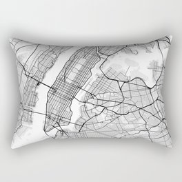 New York City Map of United States Rectangular Pillow