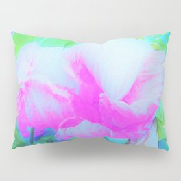 Abstract Pink Hibiscus Bloom with Flower Power Pillow Sham