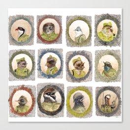 The Birdy Dozen Canvas Print