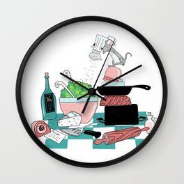 The Hungry Mouse Wall Clock