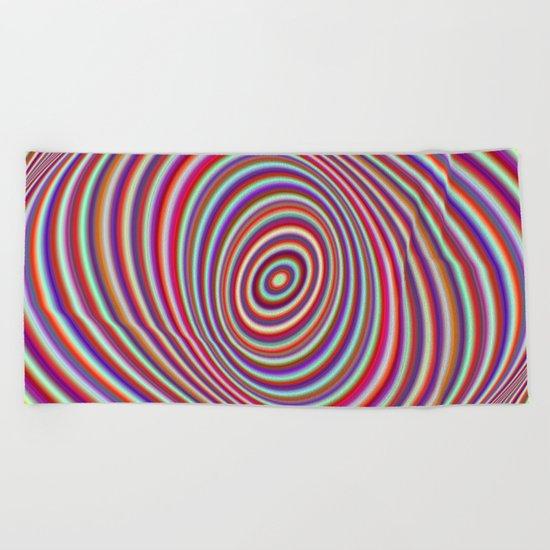 Neon hypnosis Beach Towel