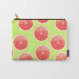 Pink Grapefruit Slices Pattern Carry-All Pouch