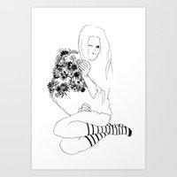 socks Art Prints featuring Socks by Avalon lewis
