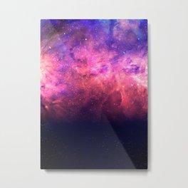 Pink & Purple Cosmic Fire Sky Metal Print