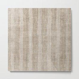Striped burlap (Hessian series 3 of 3) Metal Print