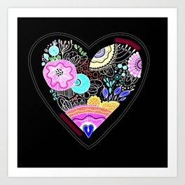CRAZY HEART Art Print