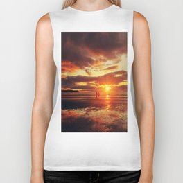 Love,walks and Sunsets Biker Tank