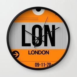 LON London Luggage Tag 1 Wall Clock