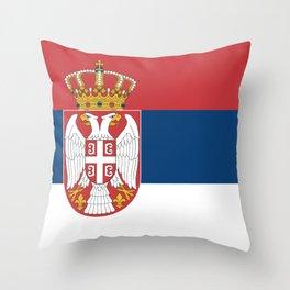Flag of Serbia - Serbian Flag Throw Pillow