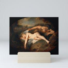 Nymph and Satyr, Fine Art Print, Mythology, Mini Art Print