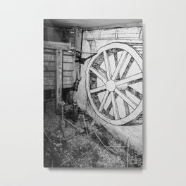 Old Wheel Metal Print