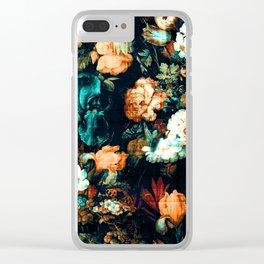 Vintage Floral Clear iPhone Case