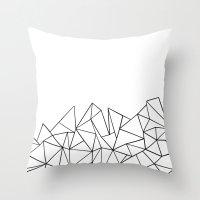 Ab Peaks White Throw Pillow