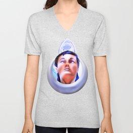 Priestess of the moon crystal Unisex V-Neck