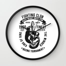 fighting club heavy weight unification Wall Clock