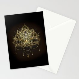 Ornamental Lotus flower Stationery Cards