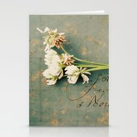 clover Stationery Cards featuring clover by Beverly LeFevre
