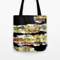 Christmas rose on torn paper with watercolors and dots Tote Bag