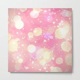 Pink Sparkling Joy Metal Print