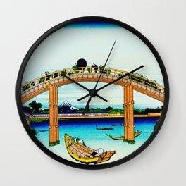 Mannen Bridge and Mount Fuji Wall Clock