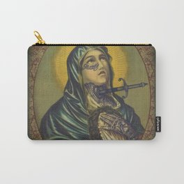 Tattooed Mary holding Jesus Carry-All Pouch