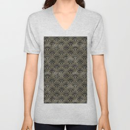 The Roaring Twenties Pattern Unisex V-Neck