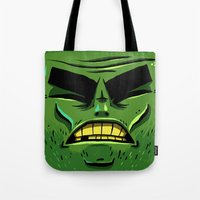 zombie Tote Bags featuring Zombie by Terry Mack