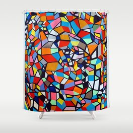 TRAPEZOID KINSHIP Shower Curtain