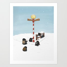 Finding Santa, (The Unexpected Adventures: Christmas Edition Art Print