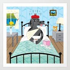 Sick as a Dog Art Print