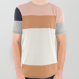 Sol Abstract Geometric Print in Multi All Over Graphic Tee