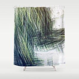 Planet Pixel Stairwell Shower Curtain