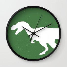 T- Rex Dinosaur Emerald Green  Wall Clock