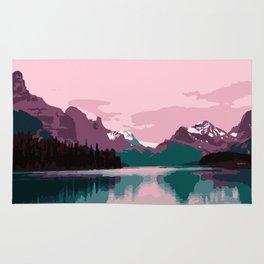 Maligne Lake - Cananda Rug