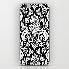 Damask Paisley Black and White Paisley Pattern Vintage iPhone Skin