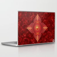 chakra Laptop & iPad Skins featuring Root Chakra by Gypsy Owl Productions