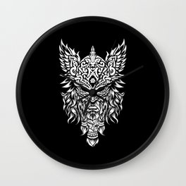 Odin The Allfather - Asgard God And Chief Of Aesir Wall Clock