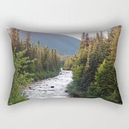 Mountain River Rectangular Pillow