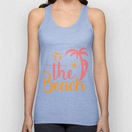 to the beach - Adventure Design Unisex Tank Top