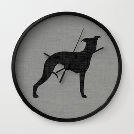 Whippet Silhouette(s) Wall Clock