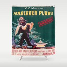 Forbidden Planet - 1956 Vintage Movie Poster Shower Curtain
