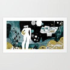 SPACE OP COLOR Art Print