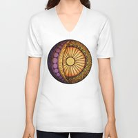 sun and moon V-neck T-shirts featuring Sun and Moon by Alohalani