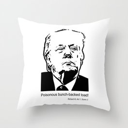 Poisonous bunch-backed toad! Throw Pillow