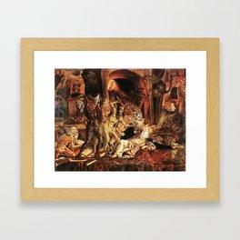 Demons attack!! Framed Art Print